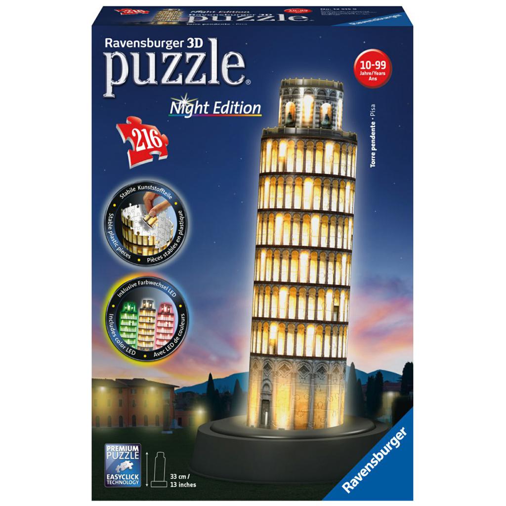 Afbeelding van 3D Puzzel Toren van Pisa, Night Edition
