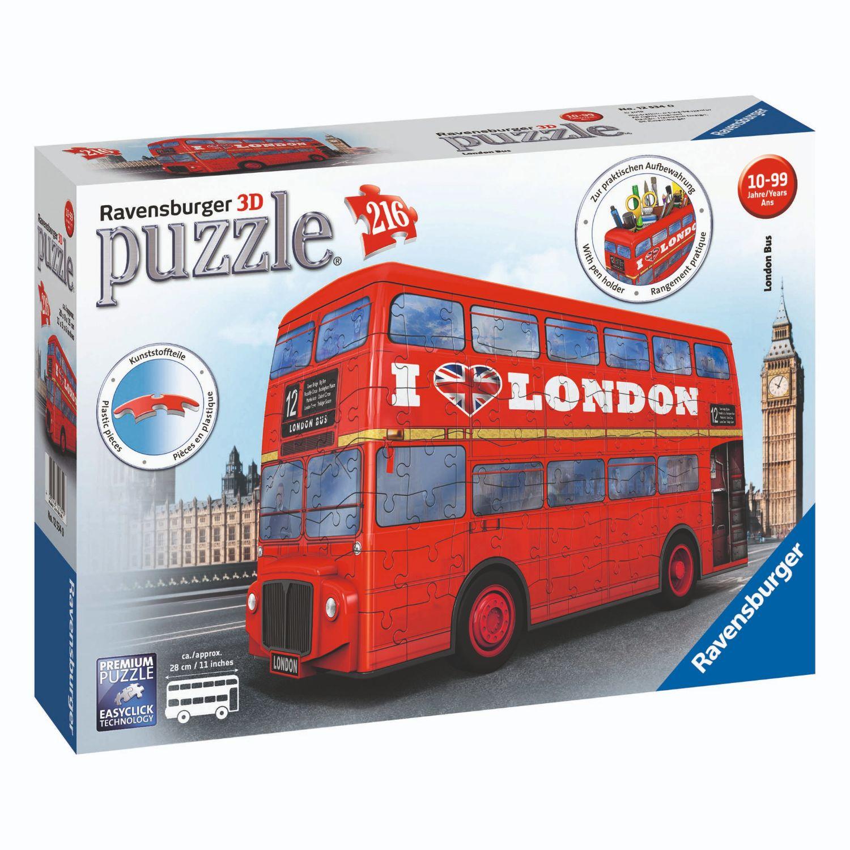 Afbeelding van Puzzel 3D London Bus Rood