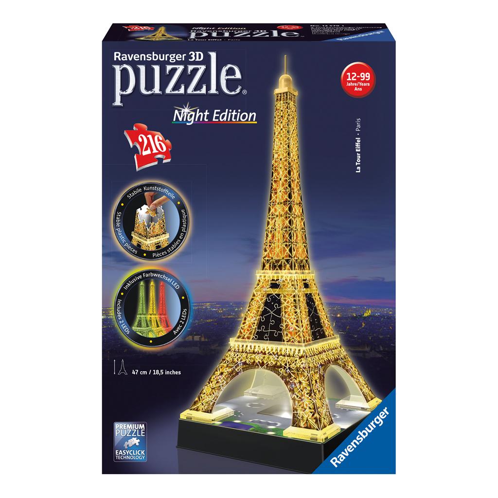 Afbeelding van 3D Puzzel Eiffeltoren Night Edition