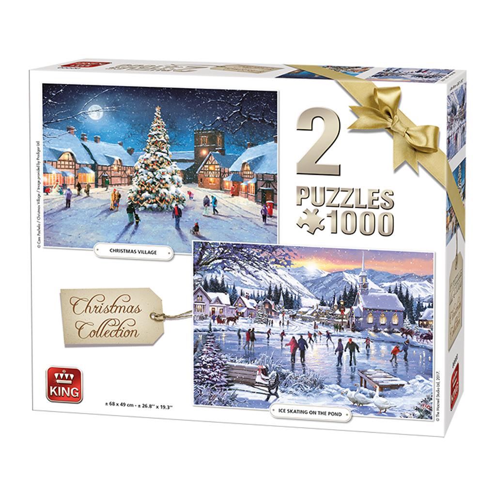Afbeelding van Puzzel Christmas Collection 2 in 1 1000 Stukjes