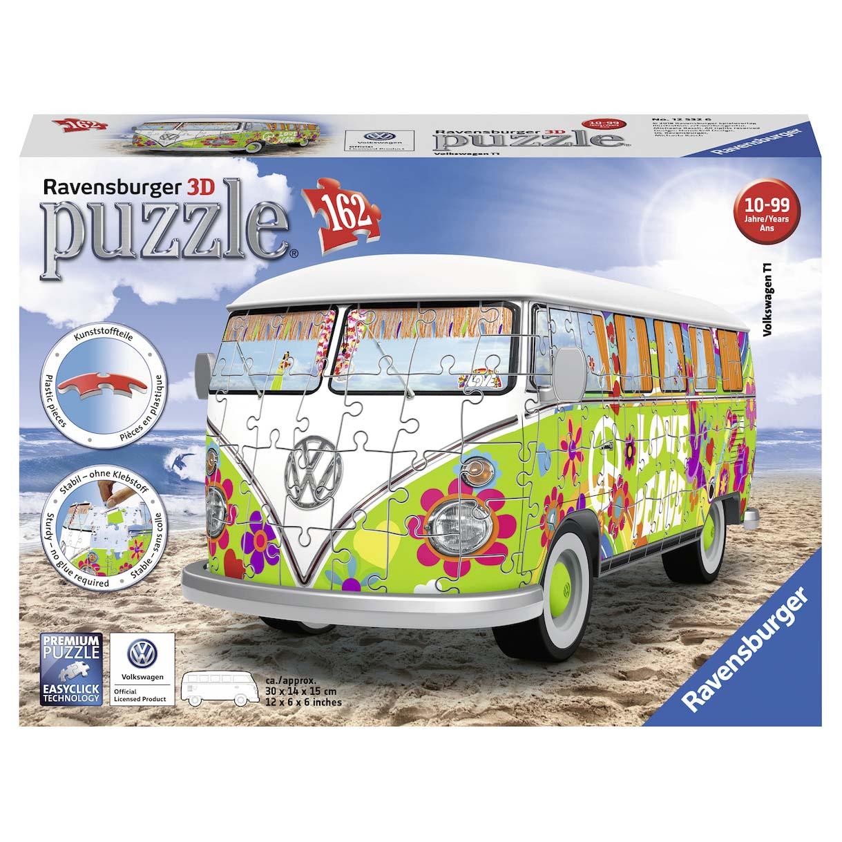 Afbeelding van Puzzel 3D Volkswagen T1 Hippie Style