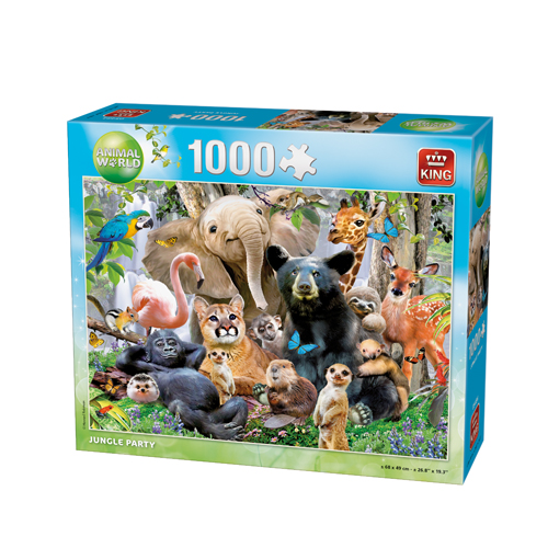 Afbeelding van Puzzel Animal World Jungle Party 1000 Stukjes