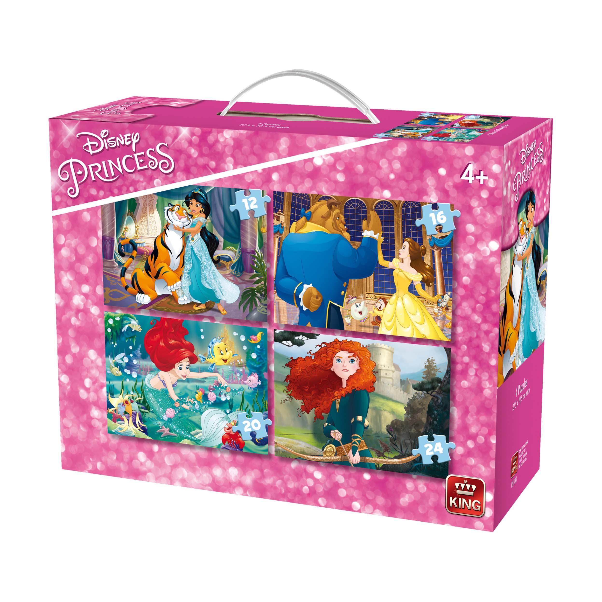 Afbeelding van Puzzel 4 In 1 Princesses