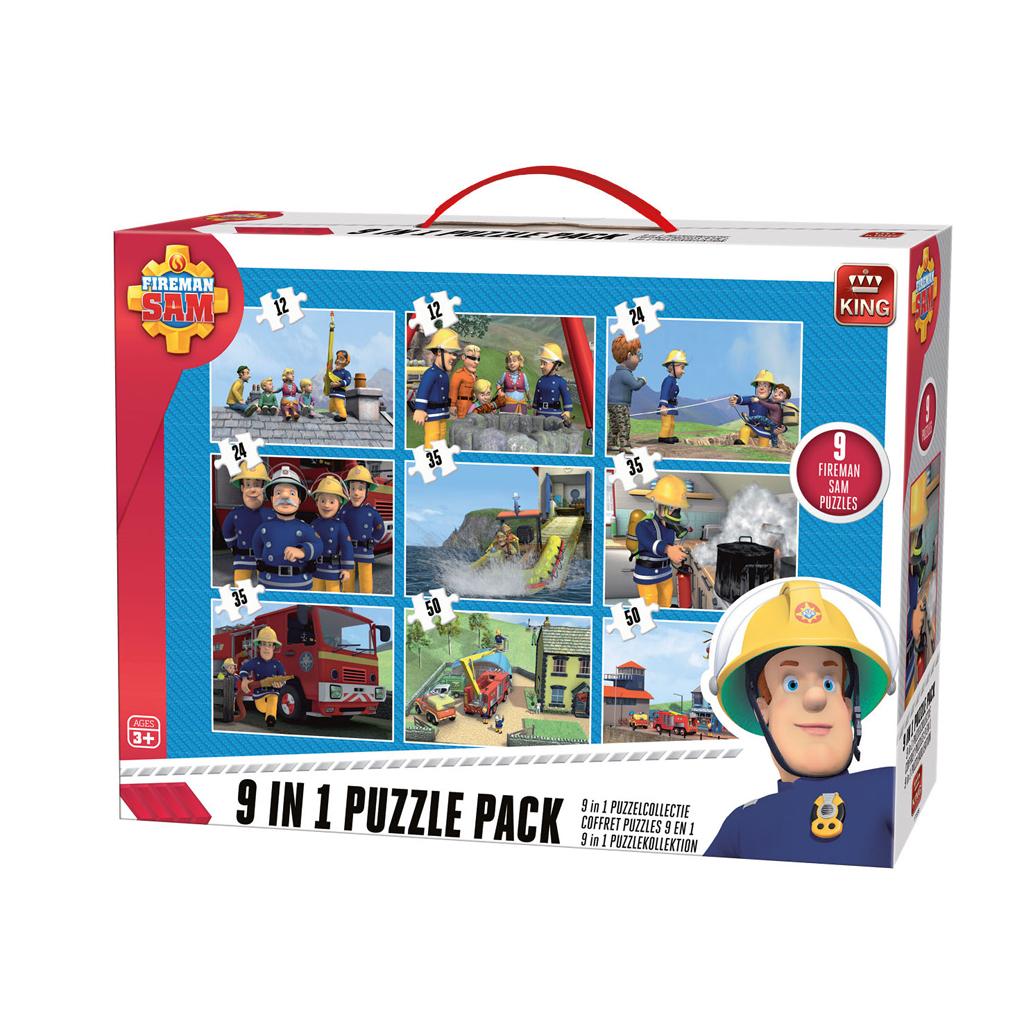 Afbeelding van Puzzel Brandweerman Sam 9 In 1 Puzzel Pack