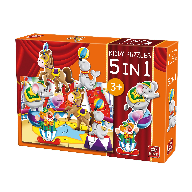 Afbeelding van Puzzel 5 In 1 Circus