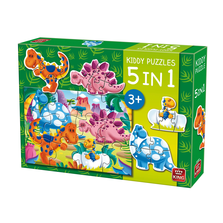 Afbeelding van Puzzel 5 In 1 Dino