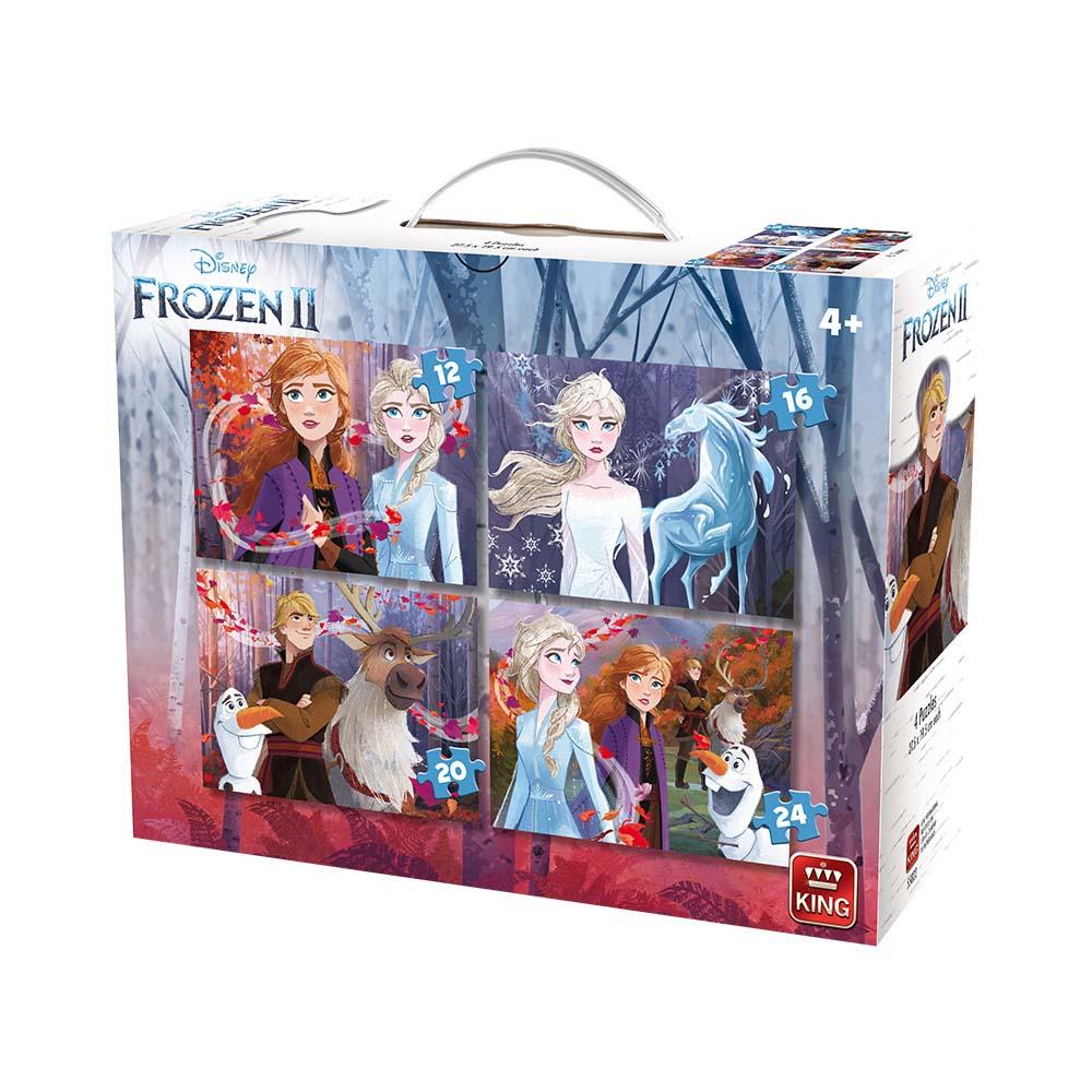 Afbeelding van Puzzel 4 in 1 Frozen 2