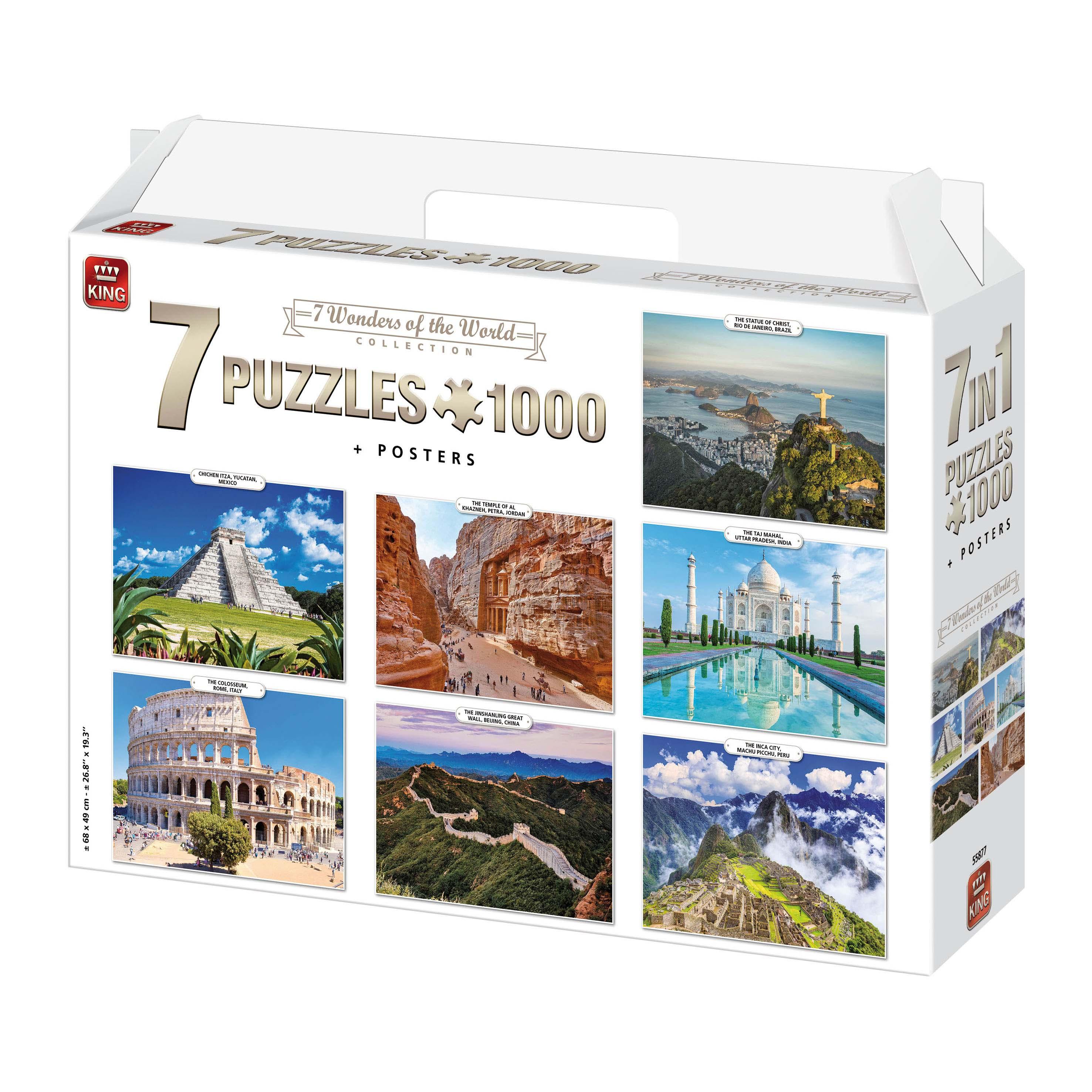 Afbeelding van Puzzel 7 In 1 1000 Stukjes Wonders Of The World