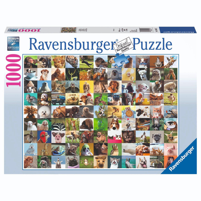 Afbeelding van Puzzel 99 Vrolijke Dieren 100 Stuks