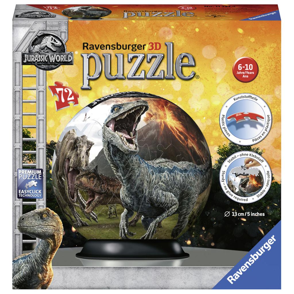 Afbeelding van Puzzel 3D Jurassic World 2 72 Stukjes
