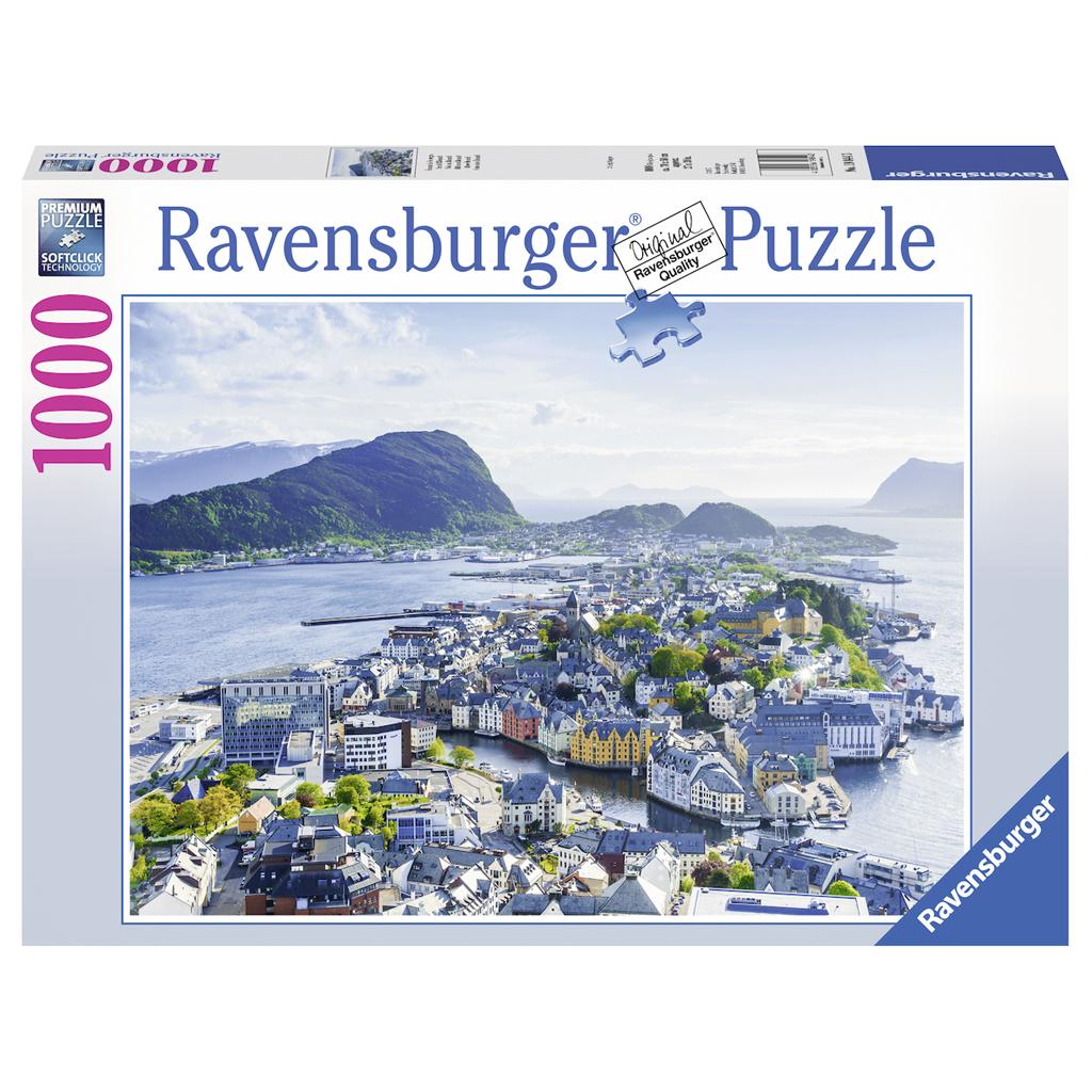 Afbeelding van Puzzel Blik Over Ålesund 1000 Stukjes