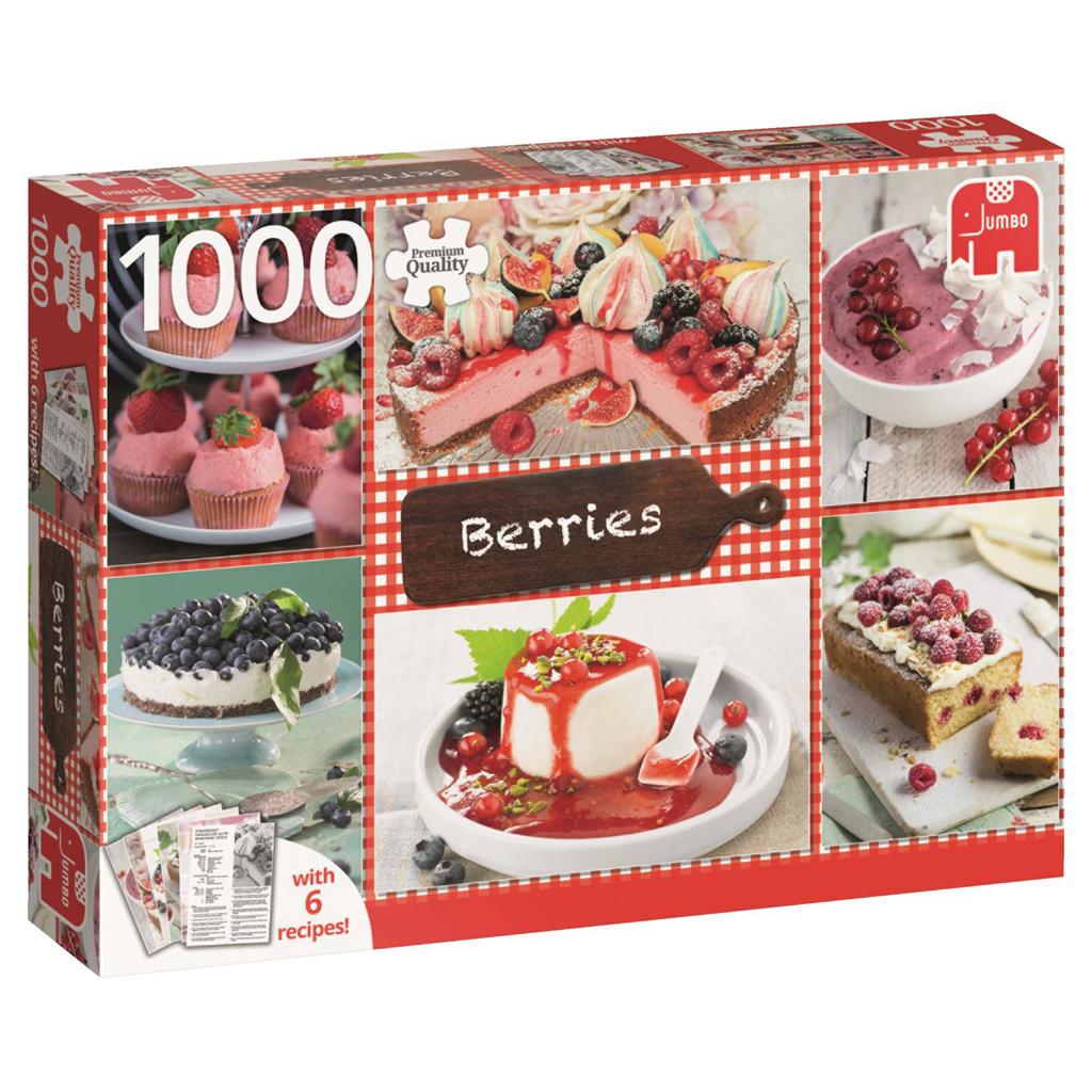 Afbeelding van Puzzel Berries + 6 Recipes 1000 Stukjes