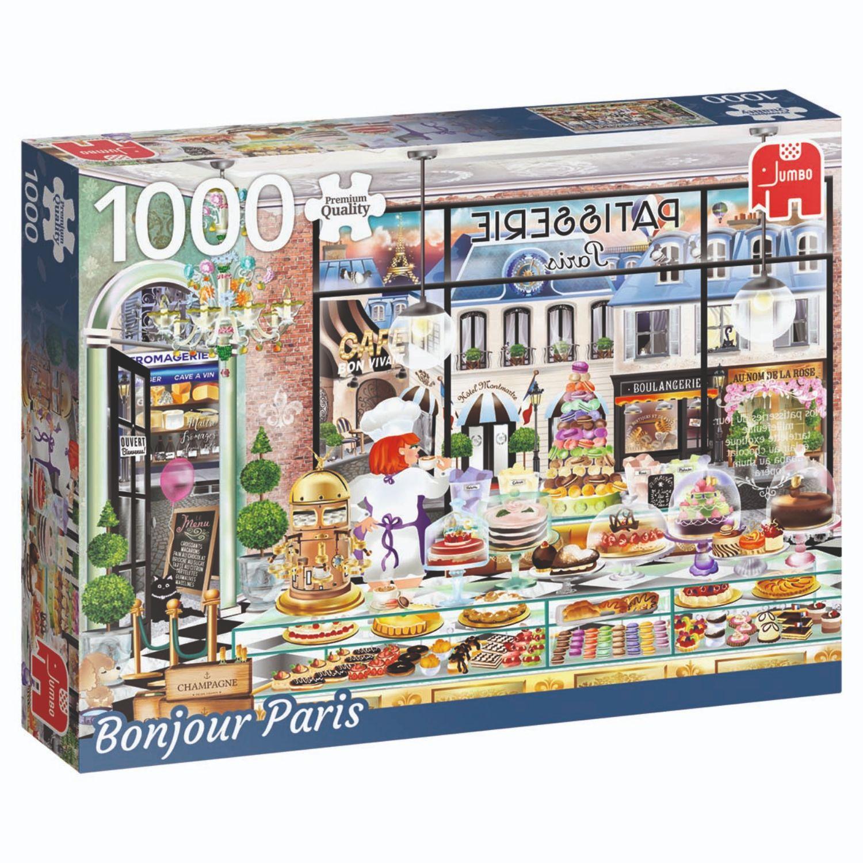 Afbeelding van Puzzel Bonjour Paris 1000 Stukjes