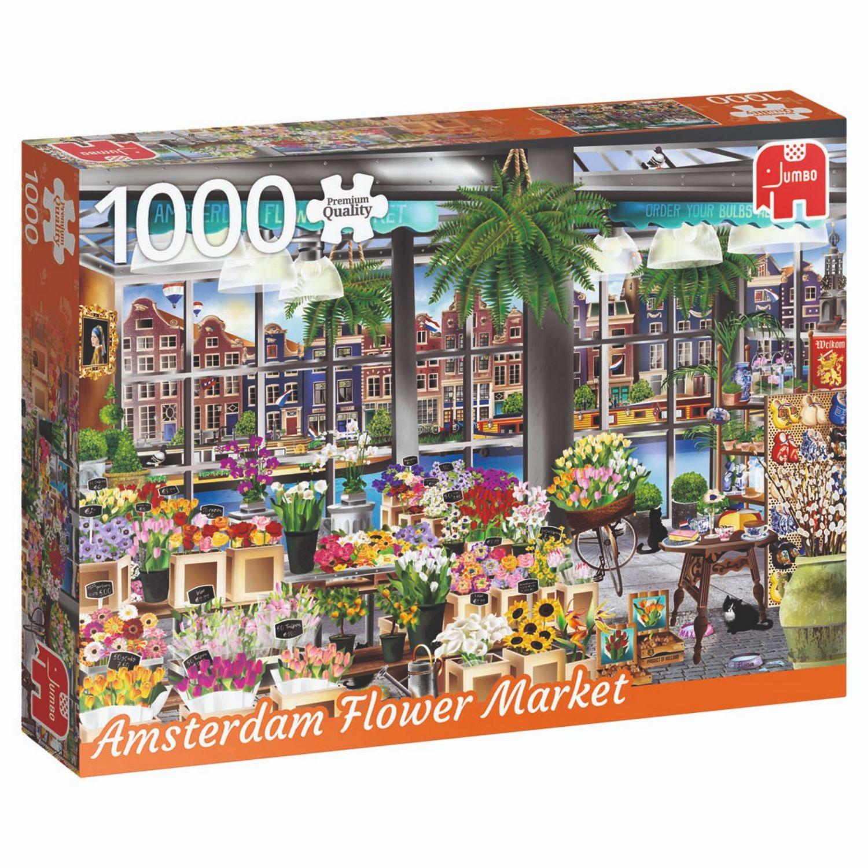 Afbeelding van Puzzel Amsterdam Flower Market 1000 Stukjes