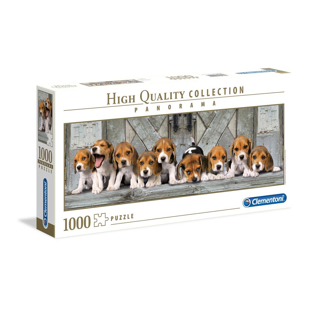 Afbeelding van Puzzel Beagles Panorama 1000 Stukjes