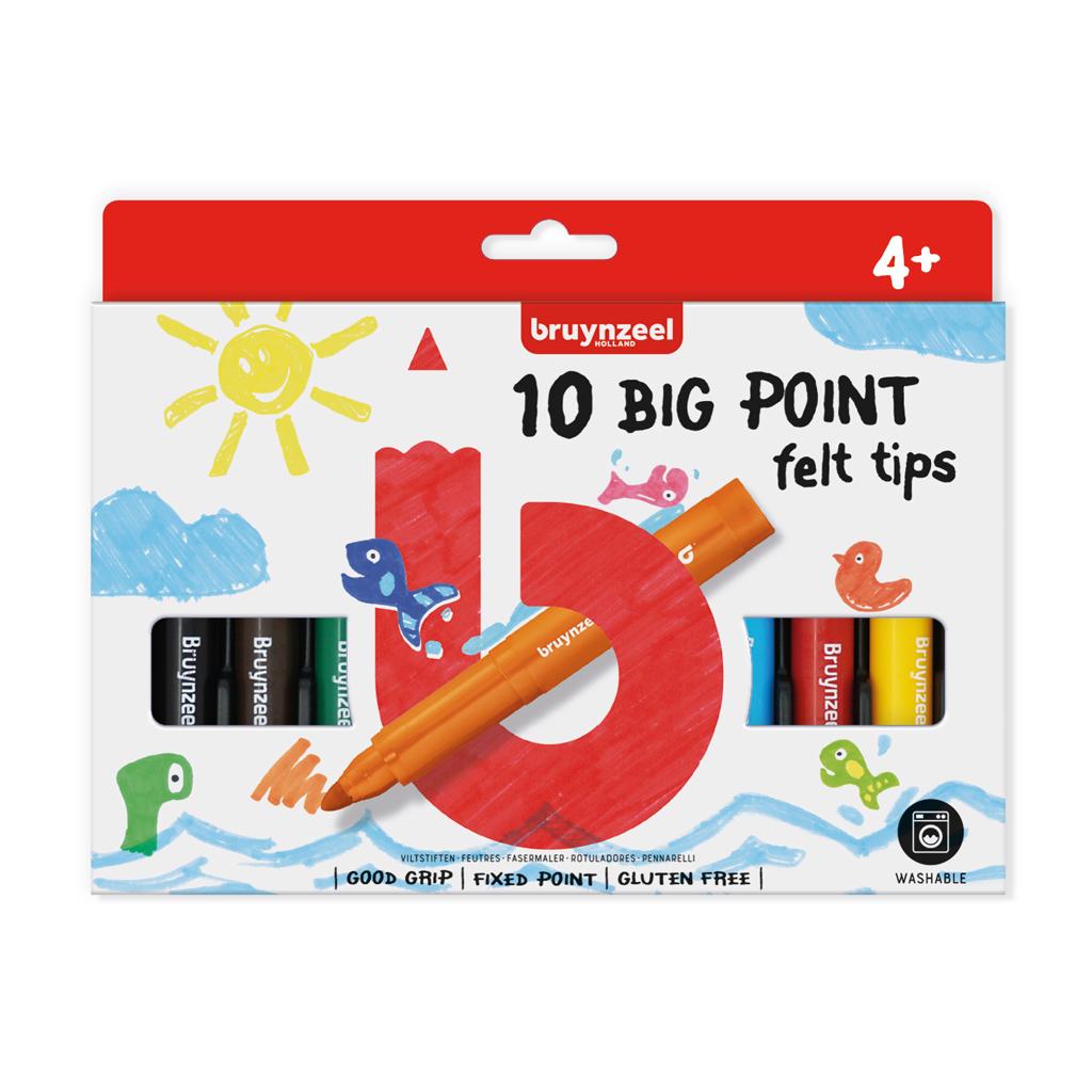 Afbeelding van Big Point Viltstiften Bruynzeel 10 Stuks
