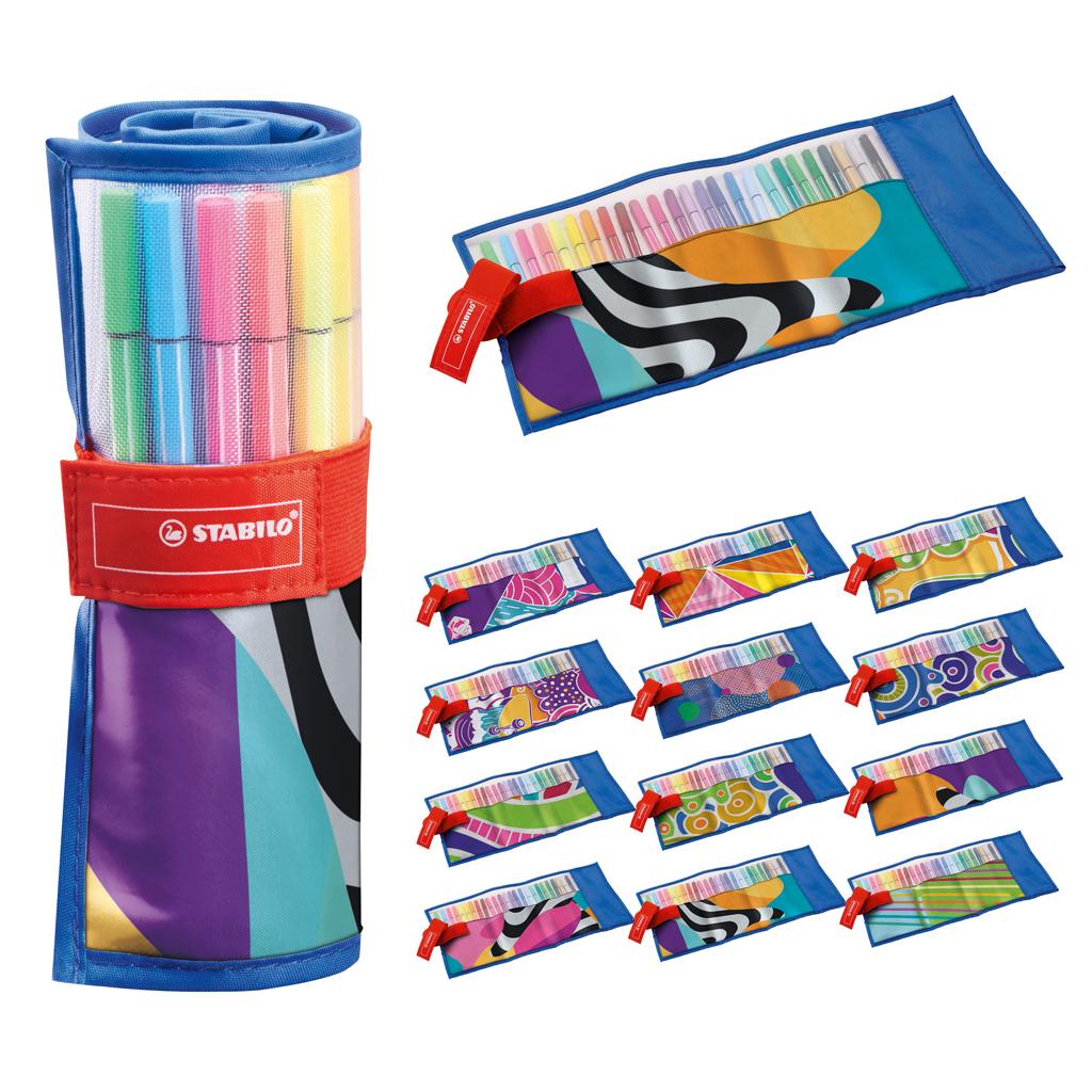 Afbeelding van Viltstiften Stabilo Pen 68 Rollerset 25 Kleuren