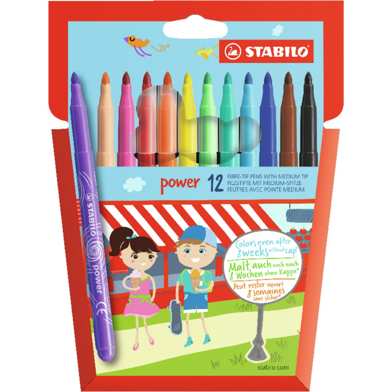 Afbeelding van Viltstiften Stabilo Power Stiften 12 Stuks