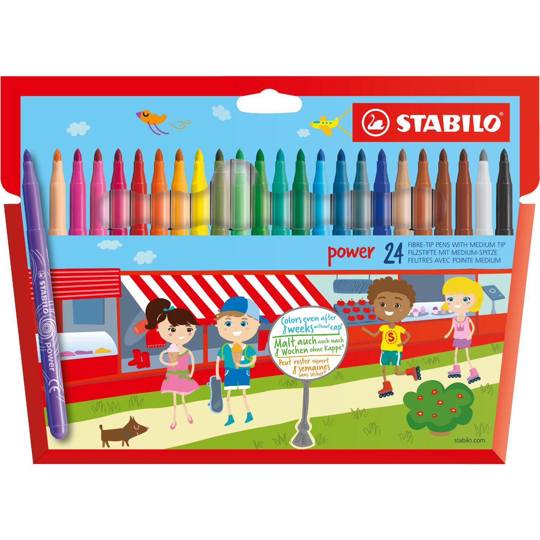 Afbeelding van Viltstiften Stabilo Power Stiften 24 Stuks