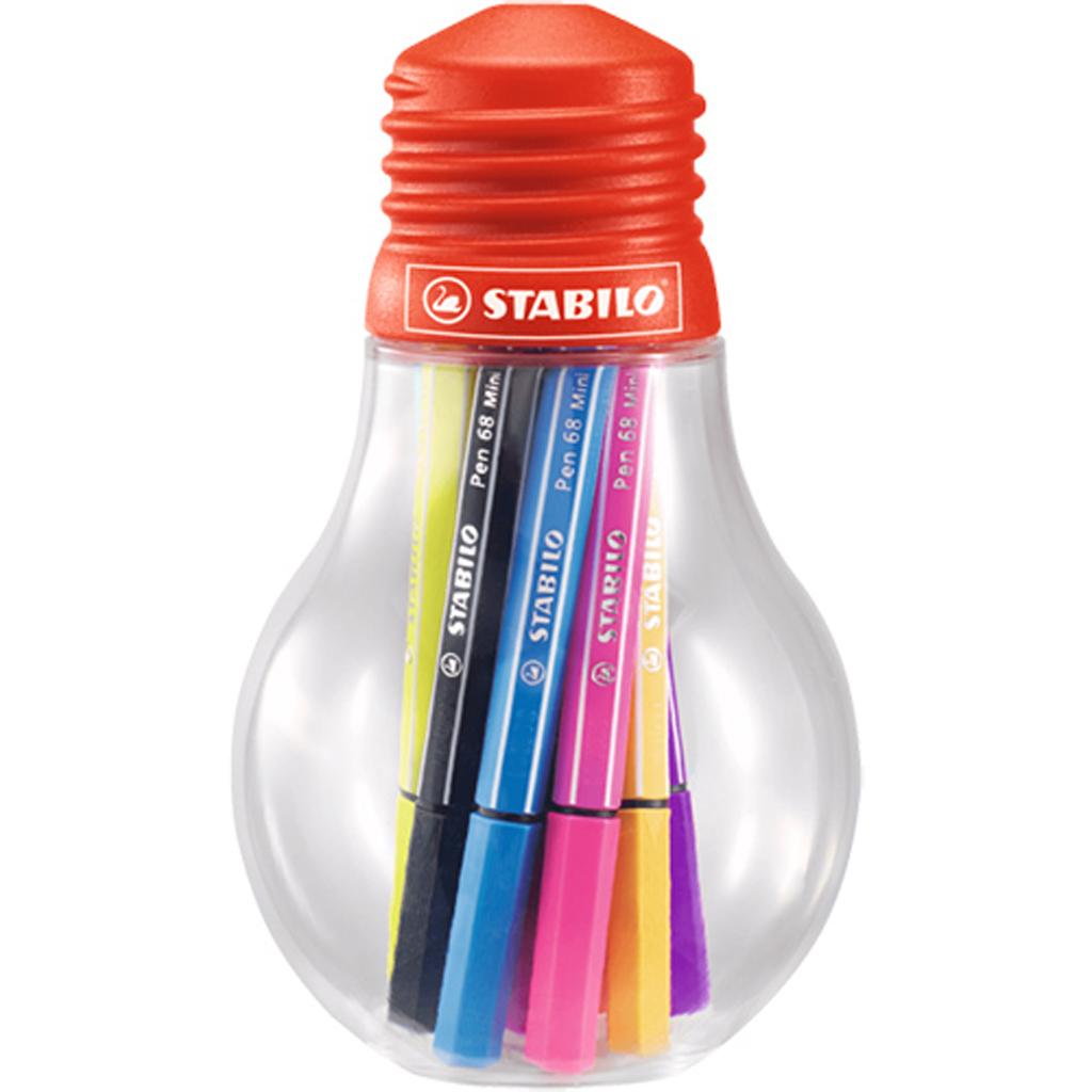Afbeelding van Stabilo Point 68 Viltstiften Mini 12 Kleuren Lamp Colorfol Ideas