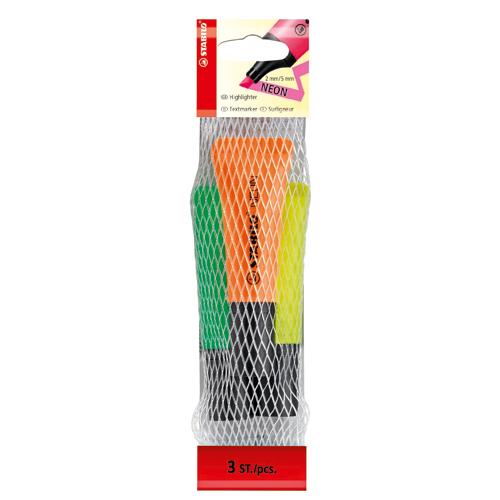 Afbeelding van Markeerstiften Stabilo Boss Neon 3 Stuks