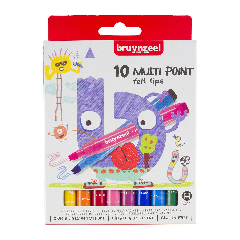 Afbeelding van Kids Zigzag Viltstiften 10 Stuks