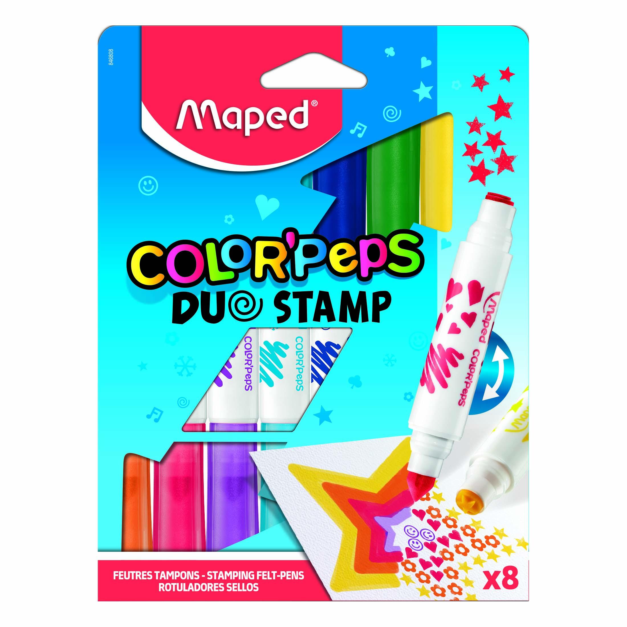Afbeelding van Duo Stamp Viltstiften 8 Stuks