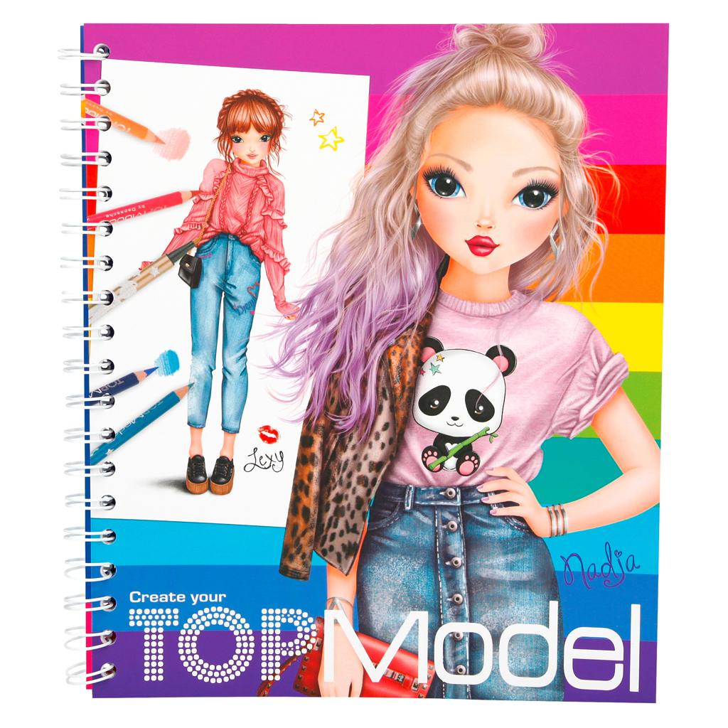 Afbeelding van Kleurboek Create Your TopModel