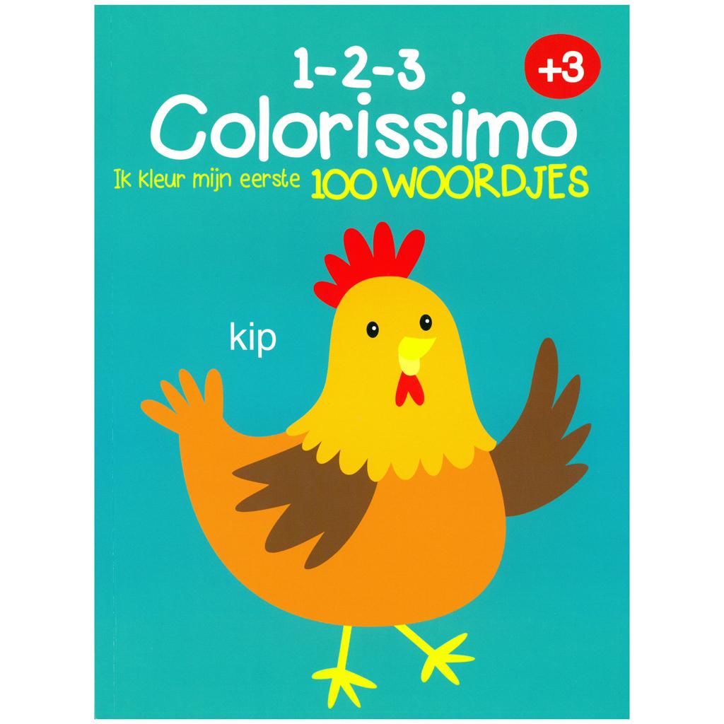 Afbeelding van Kleurboek Colorissimo 3+ Ik Kleur Mijn Eerste 100 Woordjes
