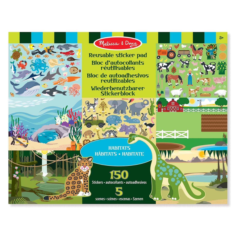 Afbeelding van Stickerboek Groot Dieren 35 X 28 Cm