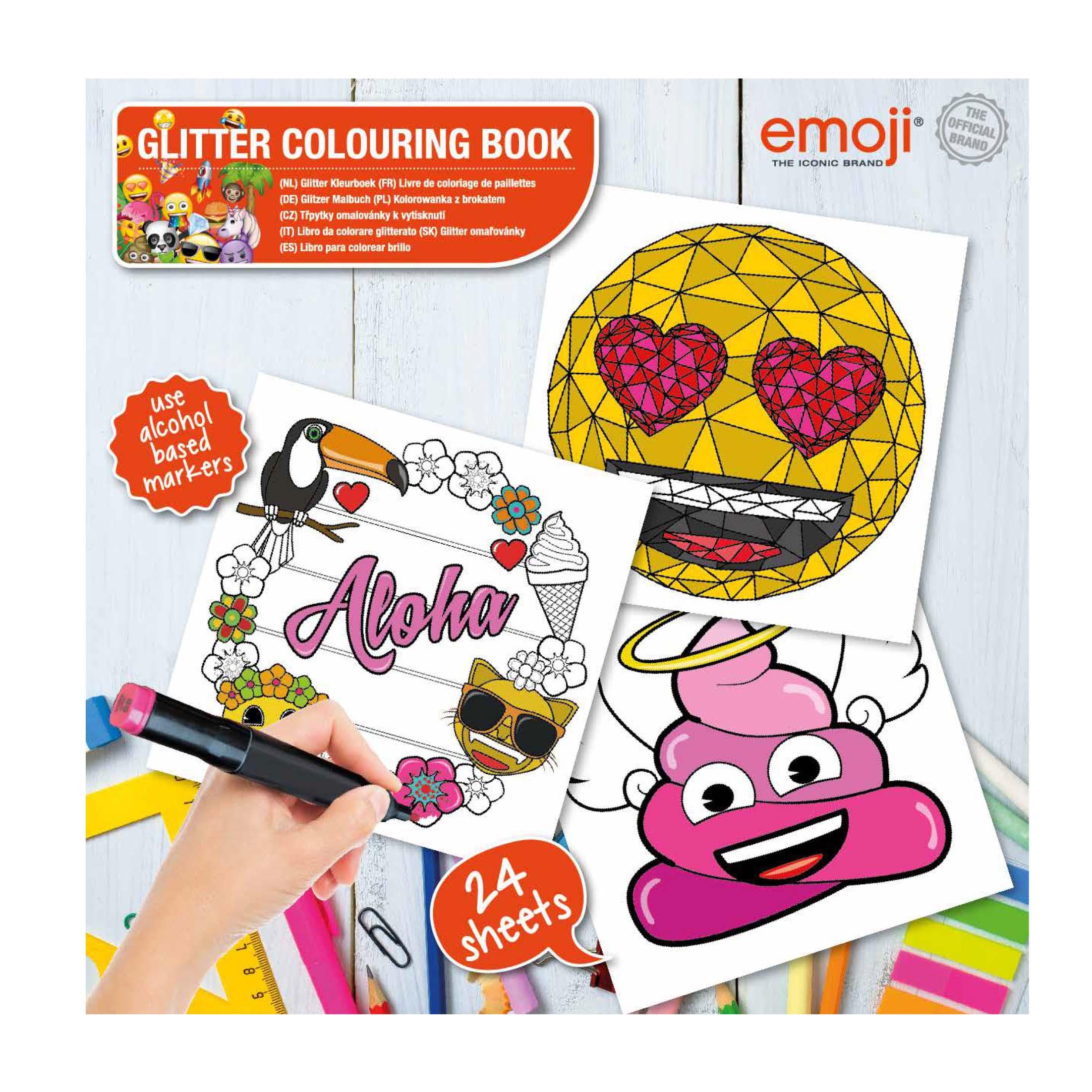 Afbeelding van Emoji Glitter Kleurboek