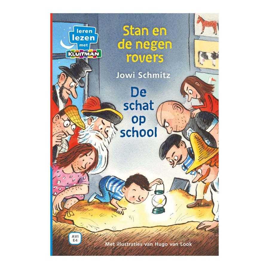Afbeelding van Boek AVI E4 Stan En De Negen Rovers De Schat Op School Leren Lezen Met Kluitman