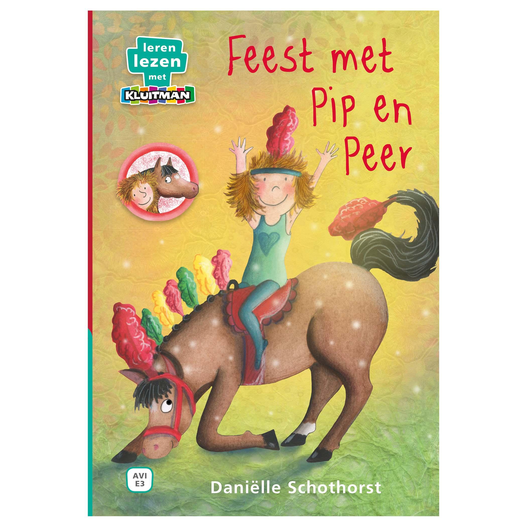 Afbeelding van Boek AVI E3 Feest Met Pip En Peer Leren Lezen Met Kluitman
