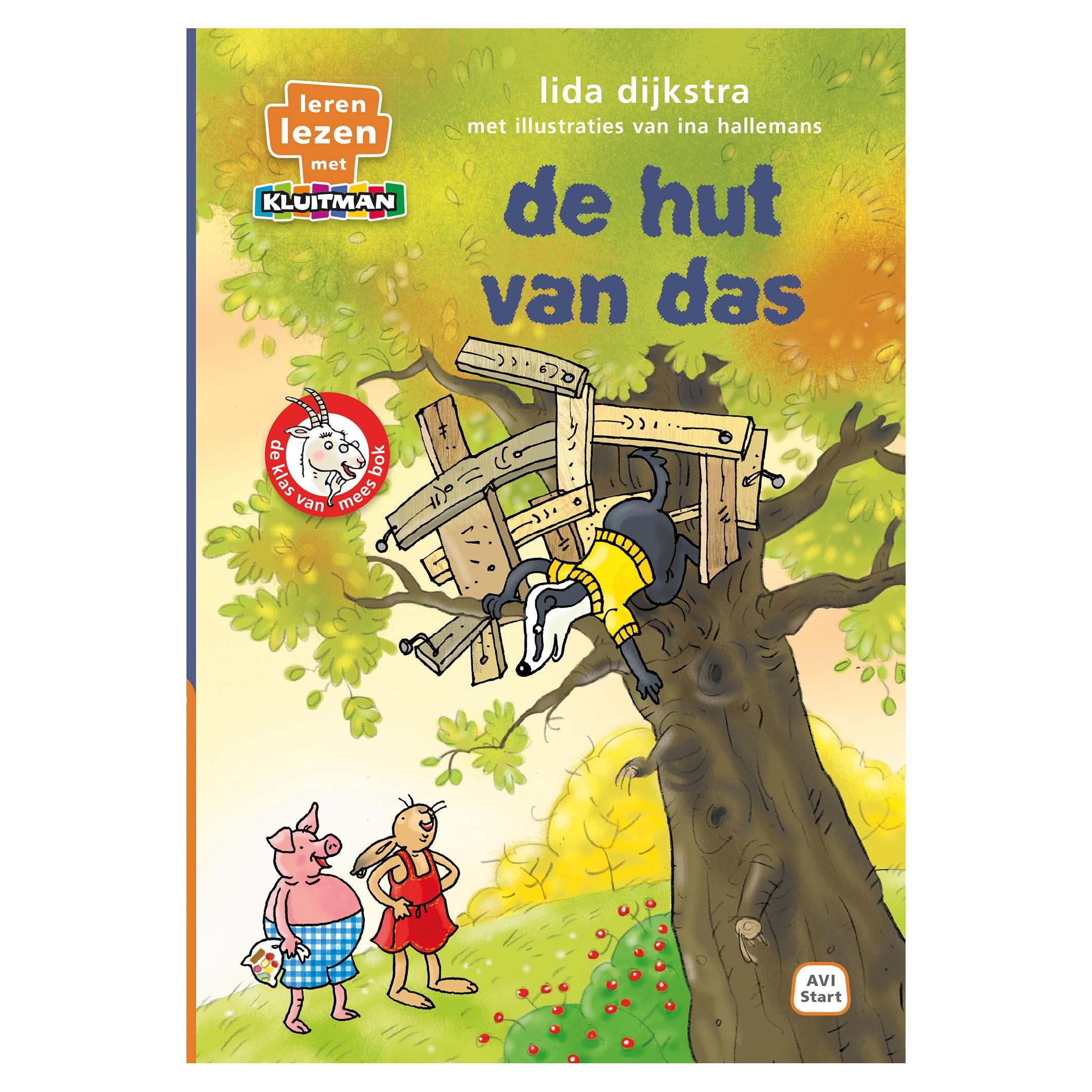 Afbeelding van Boek AVI Start De Klas Van Mees Bok -De Hut Van Das Leren Lezen Met Kluitman