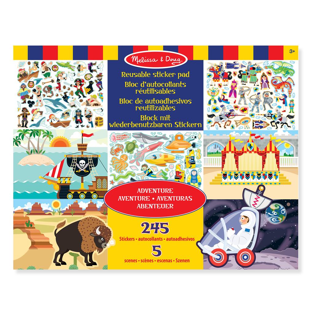 Afbeelding van Stickerboek Groot Avonturen 35 X 28 Cm