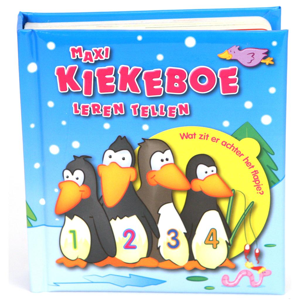 Afbeelding van Boek Kiekeboe Leren Tellen Maxi