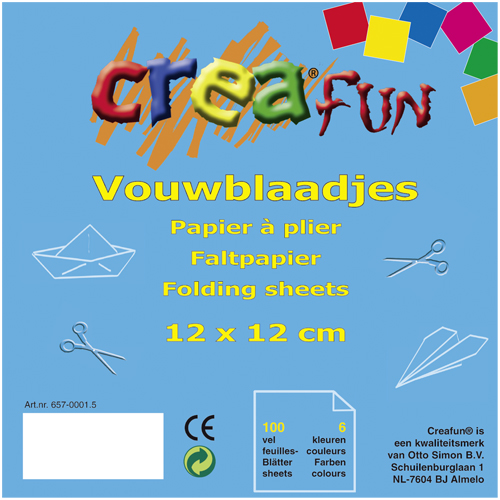 Afbeelding van Vouwblaadjes Creafun 12x12cm 100 Stuks
