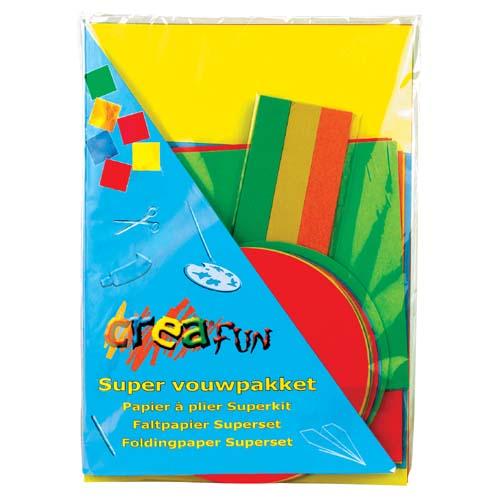 Afbeelding van Vouwblaadjes Creafun Supervouwpakket
