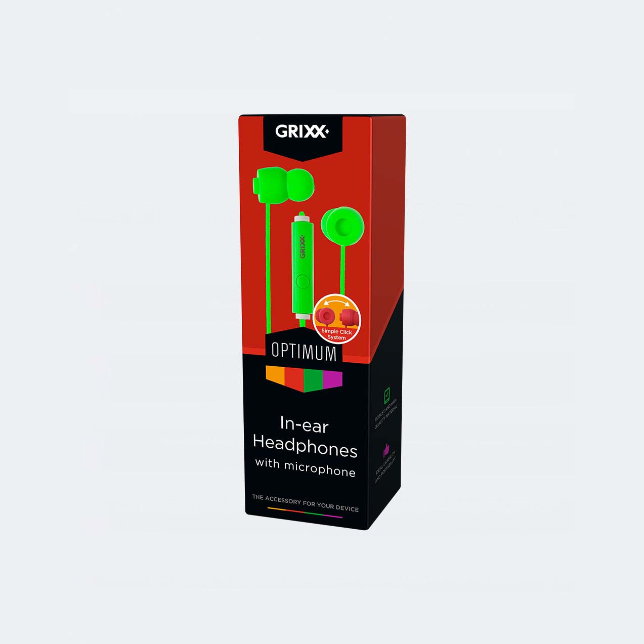 Afbeelding van Grixx In-Ear Hoofdtelefoon Met Microfoon Groen