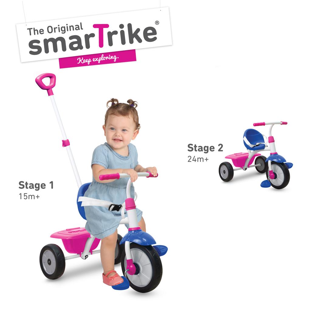 Afbeelding van Driewieler 2-In-1 Smart Trike Roze