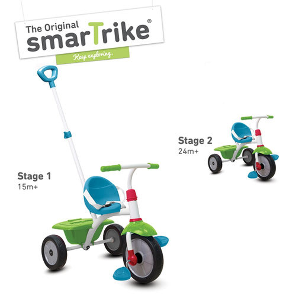 Afbeelding van Driewieler 2-In-1 Smart Trike Groen