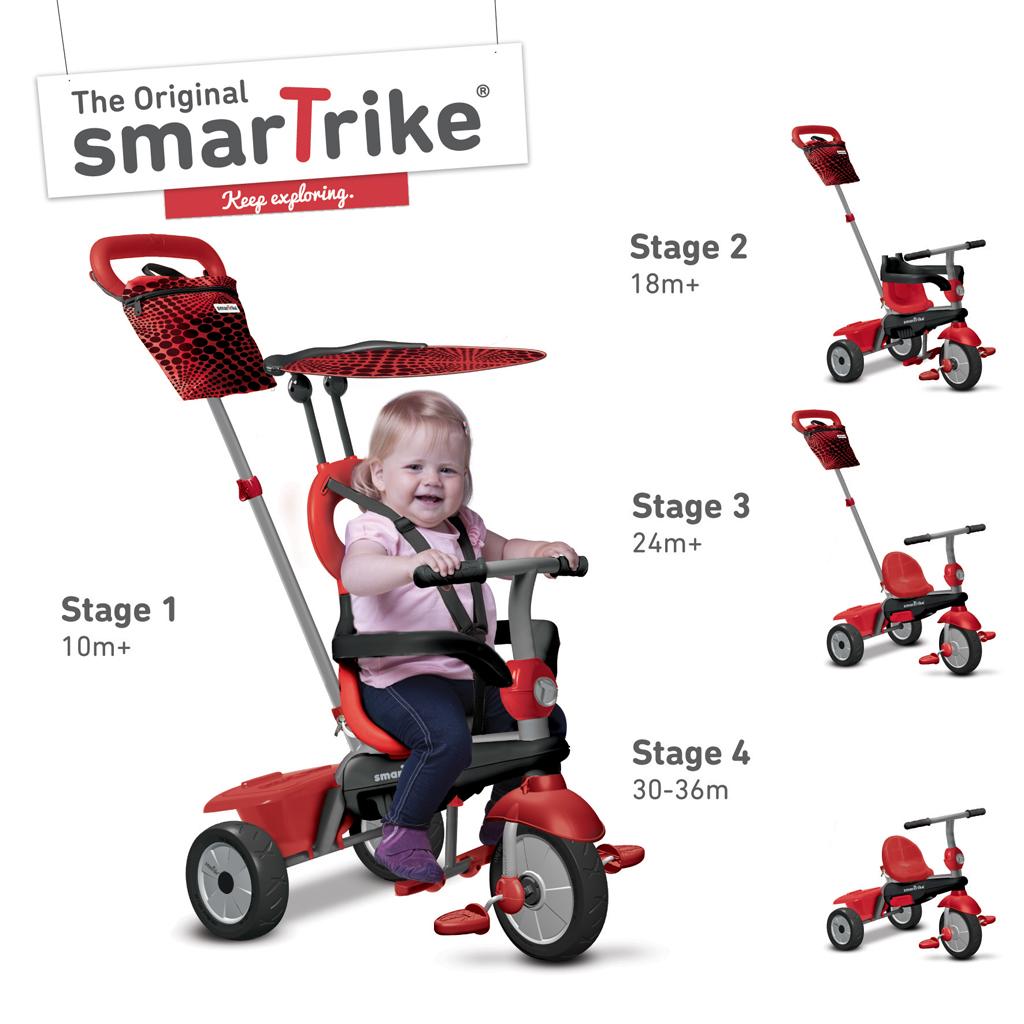 Afbeelding van Driewieler 4 In 1 Smart Trike Vanilla Rood