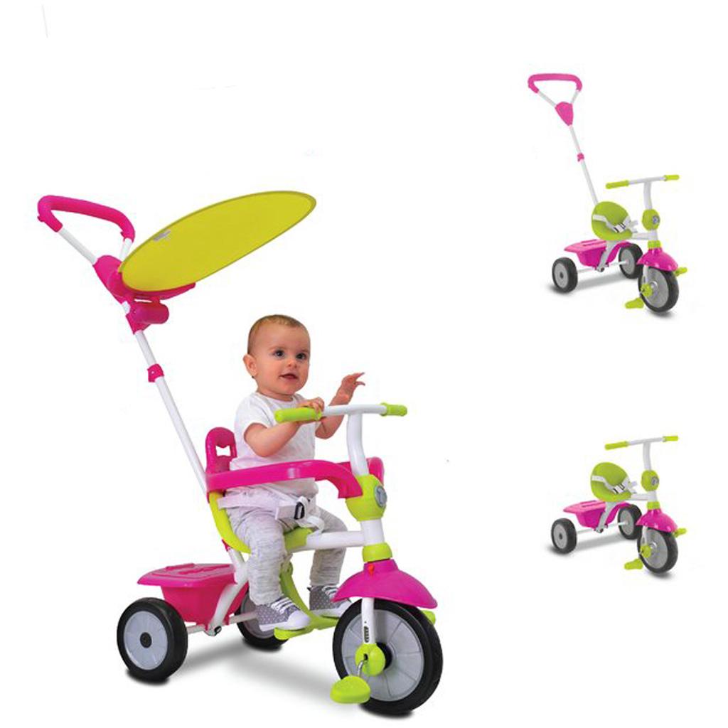 Afbeelding van Driewieler Smartrike 3 In 1 Zip Roze Groen