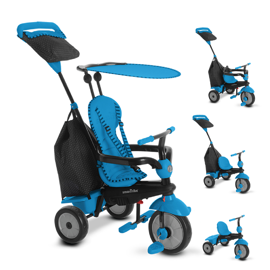 Afbeelding van Driewieler Smartrike 4 In 1 Glow Blauw