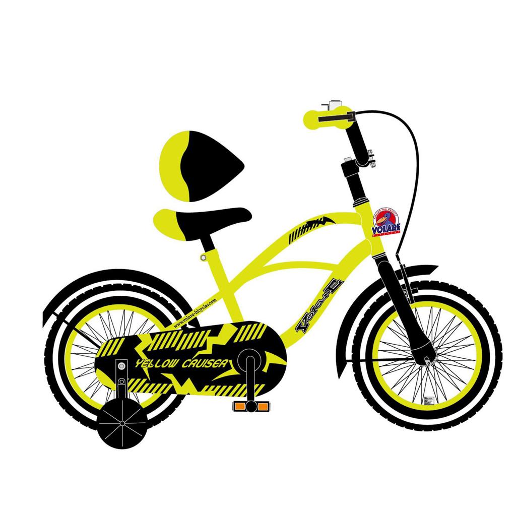 Afbeelding van Fiets Cruiser Yellow 12 Inch