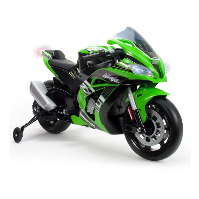 Afbeelding van Accu Motor Injusa Kawasaki ZX10 Ninja 12V Met Licht En Geluid