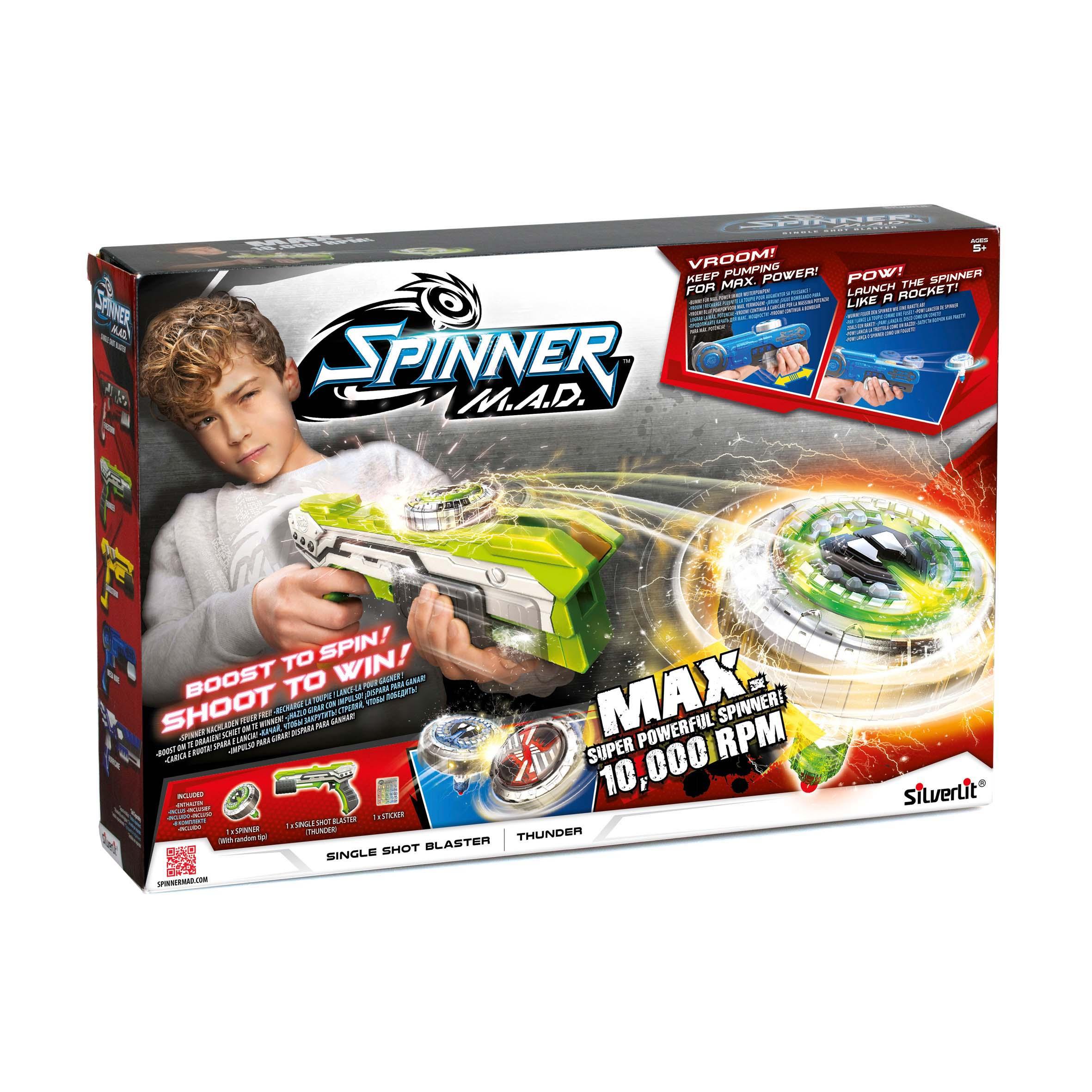 Afbeelding van Spinner MAD Single Shot Blaster Groen