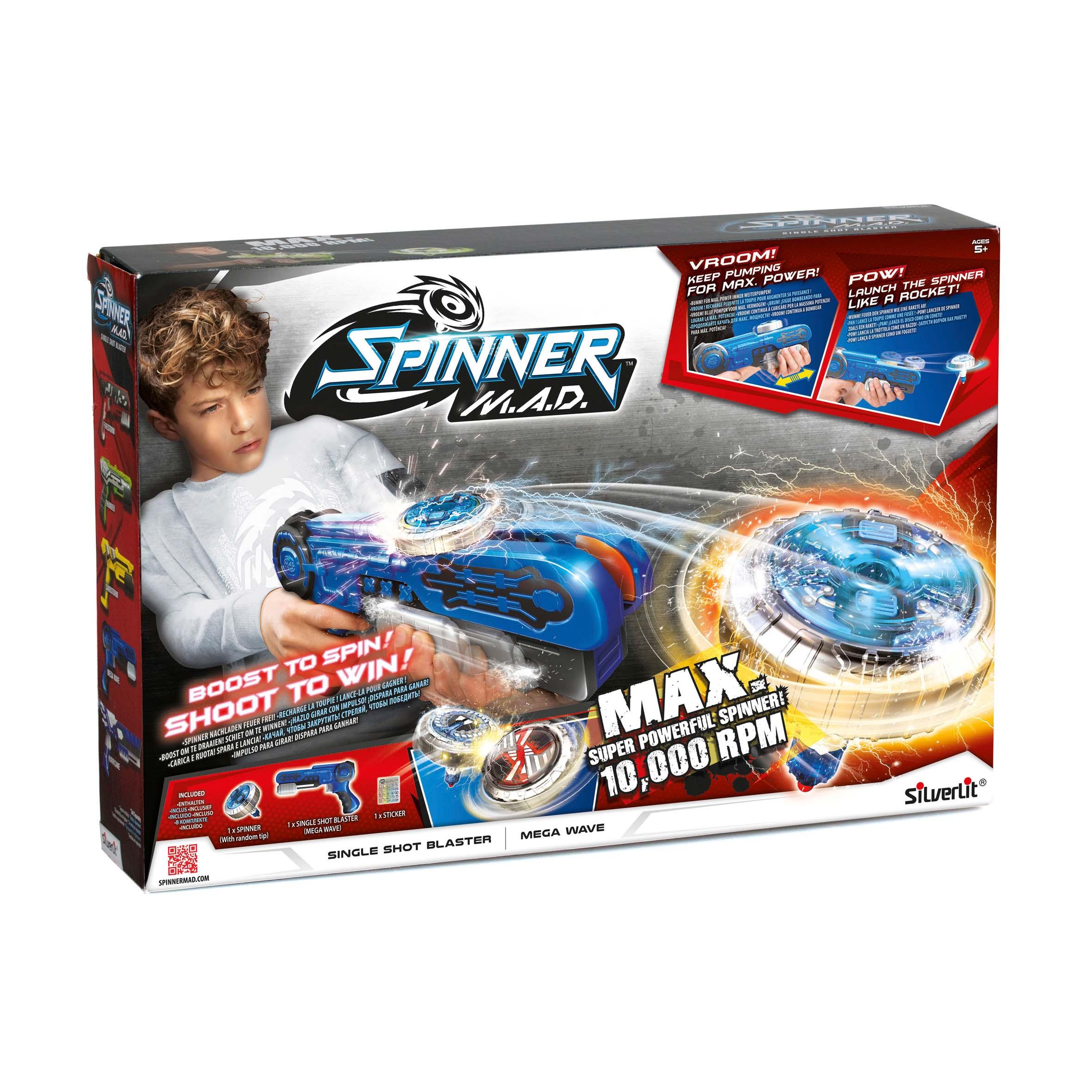 Afbeelding van Spinner MAD Single Shot Blaster Blauw