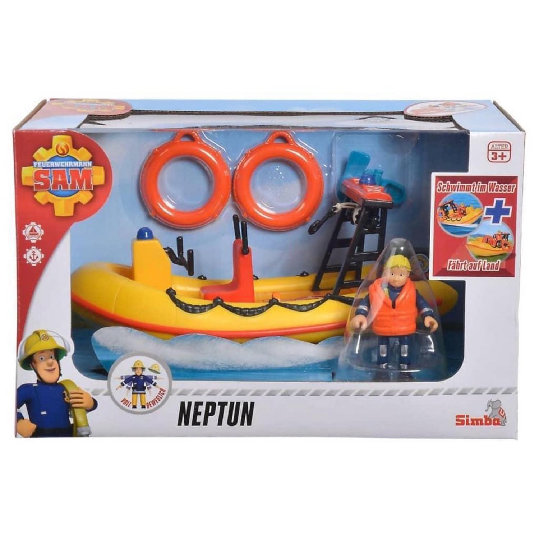 Afbeelding van Badspeelgoed Brandweerman Sam Boot Neptune Met Figuur