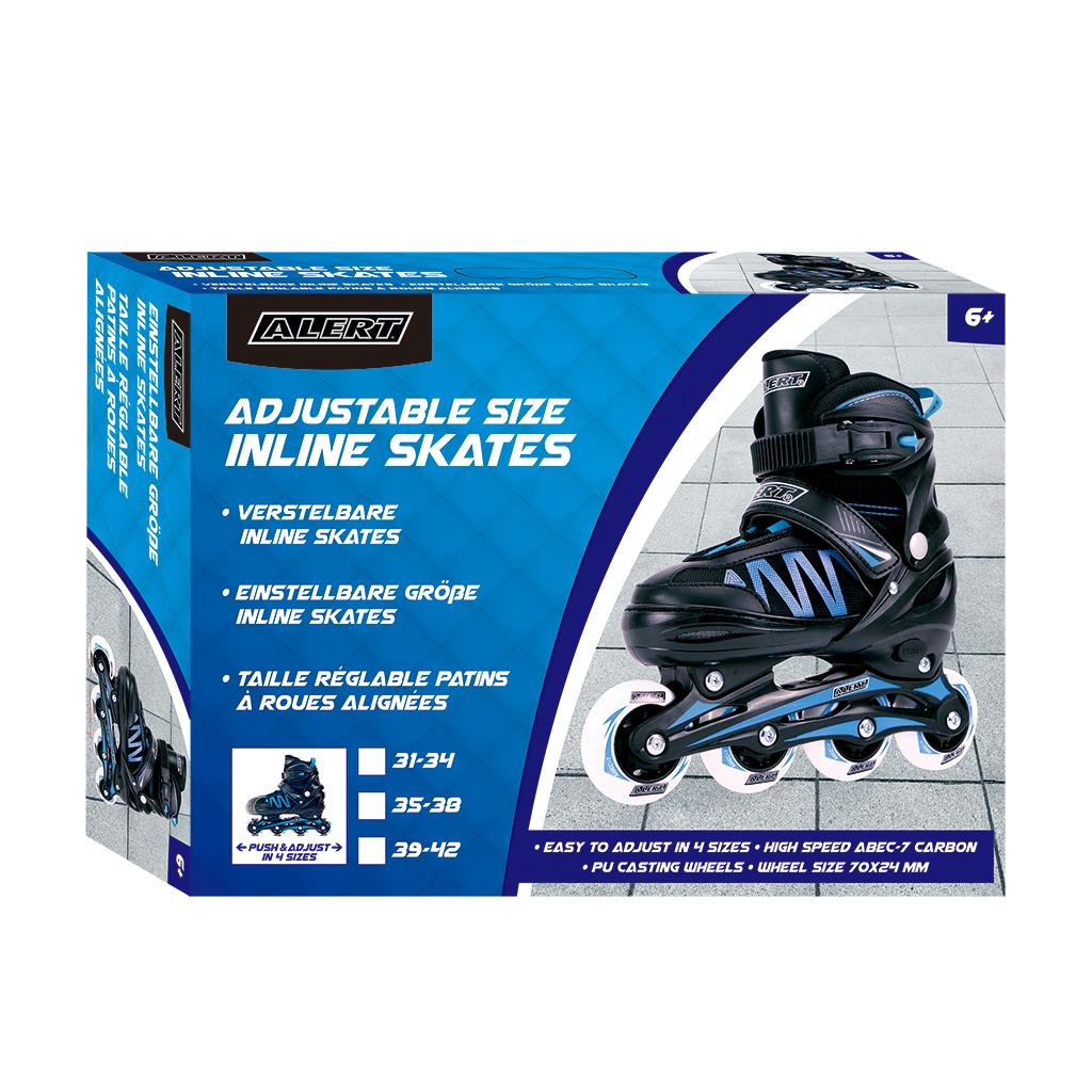 Afbeelding van Inline Skates Alert Blauw Maat 31-34
